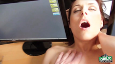 Horny Antonia flash tits and fucked in a hardcore action in private