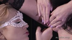 Blonde lesbian balerinas fingering to orgasm
