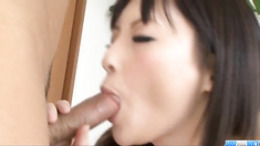 Rough anal sex with brunette Rika Sonohara