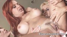 Foursome anal strapon lesbian sex