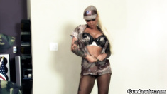Army Christy Mack gives a lapdance and gets fucked
