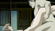 Japanese girl anime hard fucked by big guy