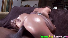 Big butt Olivia Wilder gets her twat fucked by big black cock
