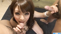 Huwari lingerie model gets fucked and made to swallow