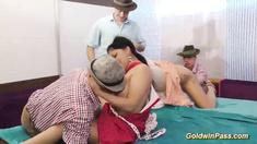 lederhosen groupsex bukkake orgy