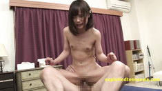 Petite Cute Flat Chested Jav Teen Pounded In Many Positions Then Creampie