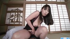 Ryoko Murakami, big tits milf, shakes hard on a big dick