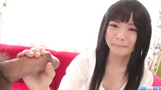 Moka Minaduki gets cum on face after a good blowjob