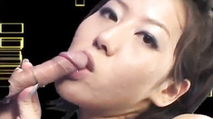 Tsubasa gets cum from sucked phallus