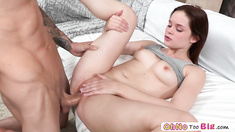 Naughty flexible teen Jenna Ross shows her ballet ssizzling in taking big cock