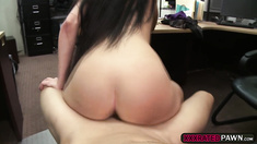 Hot chick Kallie Joe intensely fuck for cash in the pawn store