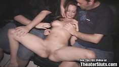 Wild teen Tori fucks strangers in a porn theater