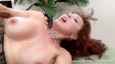 Mature stocking pussy closeup slammed
