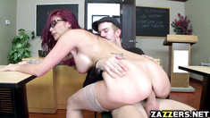 Danny D banging his hot teacher all day with his big cock