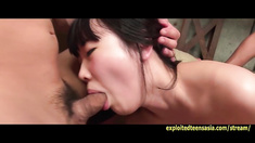 Jav Idol Rin Dildo Insertions Mouth Gag Finger Fucked Banged By Three Guys