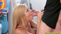 Brad needs step mommy fix for the day blowjob