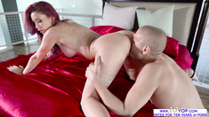 Busty Monique Alexander sucking and fucking huge cock