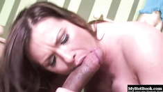 Katja Kassin is a very horny, brunette MILF, who has a tattoo on
