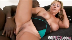 Blonde Granny Sarah Fucking Doggy Style Interracial