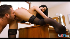 Perfect Big Tits Latina In Stocking Office Fucked Hard Anissa Kate