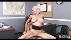 Big Tits Blonde MILF Boss Fucks Intern Emma Starr