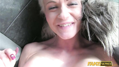 Horny Busty blonde Cindy gets fucked hard by a driver