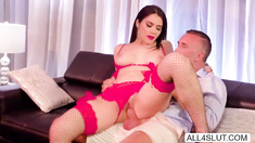 Naughty Valentina Nappi stripteases Keiran Lee in a VIP room