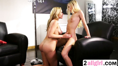 Sexy blonde Mia Malkova gets pussy licked and fingered by other hot blonde