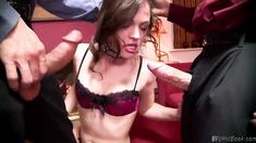 Sexy lady got doublepenetration