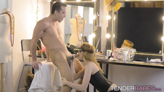 Blonde bitch Anny Aurora loves his manhood in her tight hole