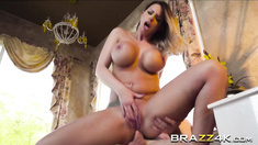 Brooklyn Chase gets her asshole pounded hard by the big cock