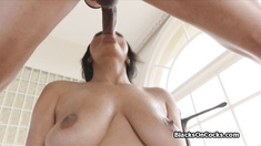BBC deep in ebony big tit bombshell