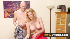 Naughty swingers talking dirty while sizzlinging booze