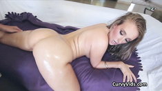 Lubed PAWG riding a lucky hard dick