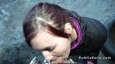 Big ass redhead amateur bangs in public