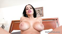 Suckable lips big tits Latina Milf fucks