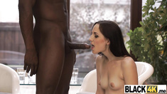 Brunette hottie interracial anal doggystyle fucking