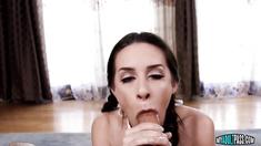 Cassidy Klein Gives Deep-throat Blowjob