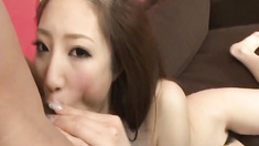 Naughty Tokyo chick Koyuki Hara pussy licked and gives amazing headfucking