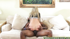 Little Madelyn orgasms multiple times she craves for black meat