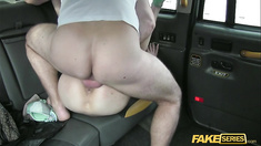 Cab Driver gets a free pussy fare from his Slutty passenger