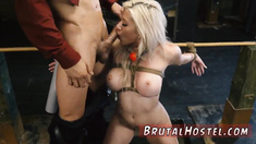 Bondage spread your legs Big-breasted blonde