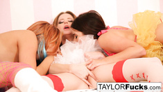 Taylor, Emily, and Jayden have some fun