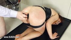 Extreme BDSM toilet bitch fucked anally hard