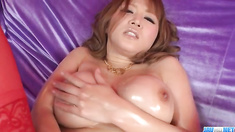Busty, Yuki Touma, plays with cock in nasty ways