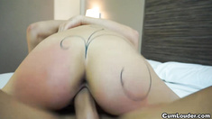 Claudia Shotz receives one big Facial after Hard Sex