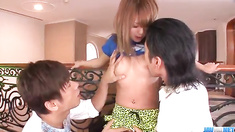 Cocoa Ayane amazes during top scenes of group sex