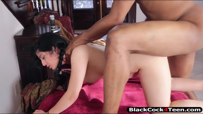 Sexy Arab Teen Girl Nadia Ali Fucked By Huge Black Schlong