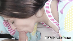 Teens fucked after sleepover party action