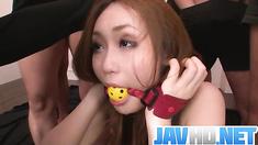 Group hardcore with young Japanese Yayoi Orkiasa